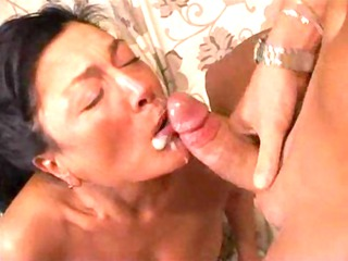 euro-mature bitch anal gang-banged tough