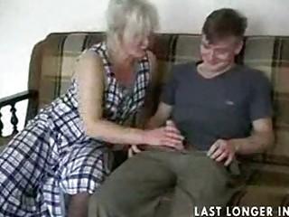 cougar albino into nylons copulates the guy part1