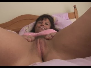 large chest cougar woman inside reddish slide