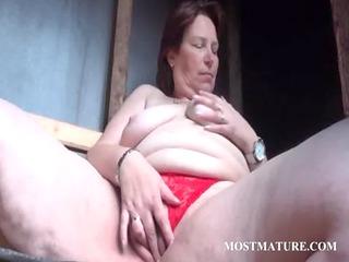 outdoor slut masturbation with older