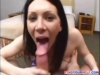 slutty brunette woman lady is into a sex audition