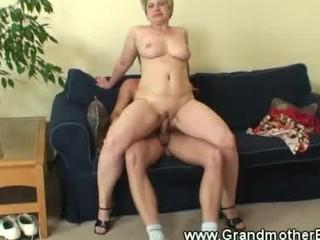 older  chick driving fresh penis