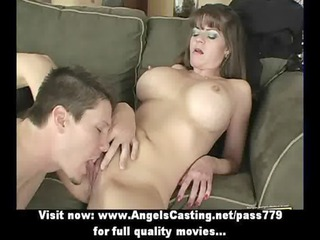 badass milf does blowjob for fresh guy and has