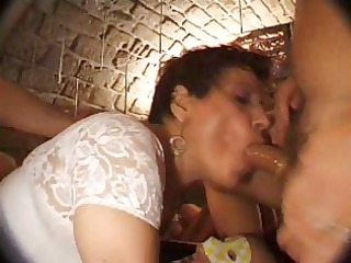 french older  n27 brunette anal woman gangbang in