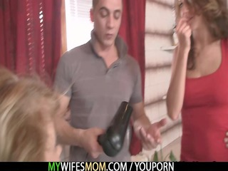 his woman comes out and he fucks her woman