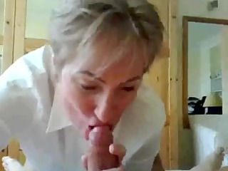older  teacher giving fellatio and spurting