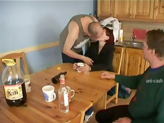 slutty redheaded housewife acquires pounded